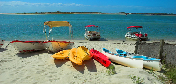 Caloundra Beach - kayaks and hire boats